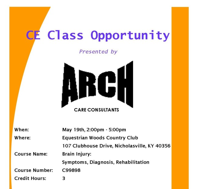 Arch CE Class Flyer