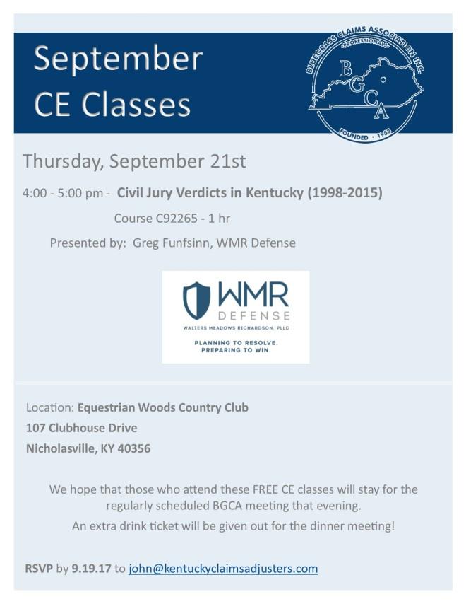 September CE Class